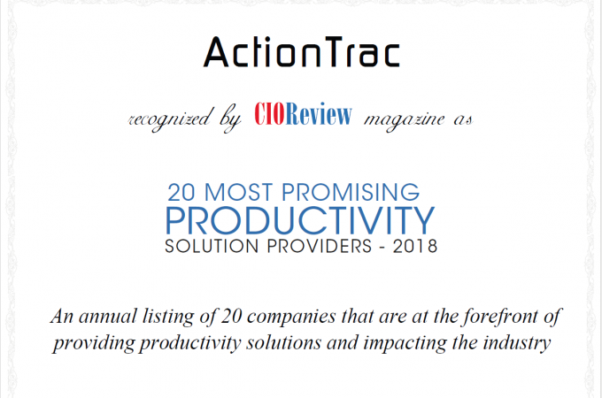 CIO 20 most productivity solution providers -2018
